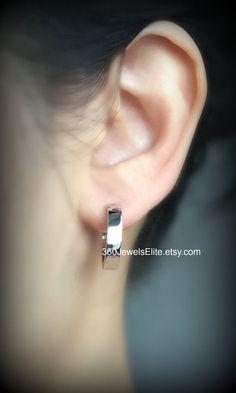 Xl Sterling Silver Hoop Earrings For Men 19mm By 360jewelselite