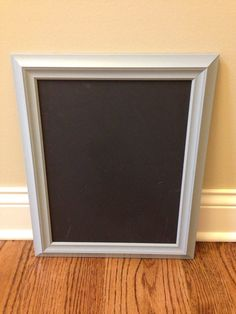 glossy soft grey painted vintage framed by