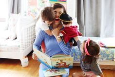 """OH JOY! These adorable little mateys love reading """"My Pirate Adventure"""" with their mom! What a treasure of tale... and a treasure of a photo from LoveTaza @lovetaza"""