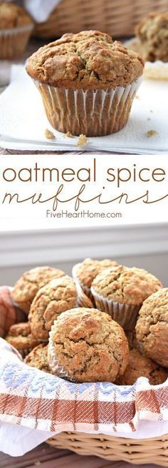 Five Approaches To Economize Transforming Your Kitchen Area Oatmeal Spice Muffins Perfectly Spiced With Crunchy Tops And Pillowy Centers, Making Them A Wholesome, Delicious Breakfast On-The-Go Or Anytime Snack Oatmeal Muffins Healthy, Flaxseed Muffins, Oatmeal Muffin Recipe, Oat Flour Muffins, Oatmeal Raisin Muffins, Spice Muffin Recipe, Oatmeal Breakfast Muffins, Eggless Muffins, Whole Wheat Muffins