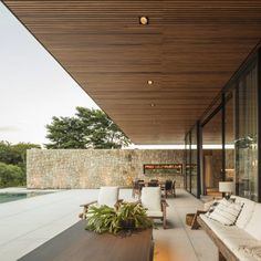 Gallery of FL House / Jacobsen Arquitetura - 2 - . - Gallery of FL House / Jacobsen Arquitetura – 2 – Lar - Facade Architecture, Residential Architecture, Contemporary Architecture, Contemporary Patio, Terrace Design, Facade House, House Facades, House Exteriors, Modern House Design
