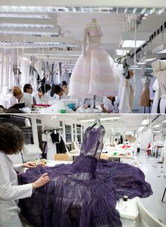 Atelier haute couture, sewing, Fashion atelier, fashion making, Dior