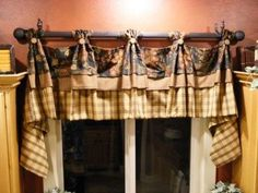 Country Curtains Moire Plaid Lined Balloon Valance With Fringed - French country valances