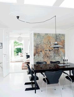 Dining Room, Dining Table, Fritz Hansen, Green Marble, Marble Countertops, Minimalist Interior, Texture Design, Chair Design, Ideal Home