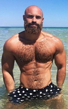 Hot Bearded Tattooed Hairy Muscular Manly Beasts, ranging in age from prime wolves to mature silver daddies NSFW. Bald With Beard, Bald Man, Great Beards, Awesome Beards, Moustaches, Hunks Men, Sexy Beard, Bear Men, Hairy Chest