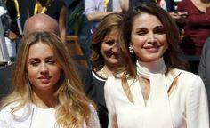 Queen Rania of Jordan and her mini-me Princess Iman bint Abdullah visit France  http://www.ibtimes.com.au/queen-rania-jordan-her-mini-me-princess-iman-bint-abdullah-visit-france-1463390