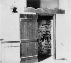Door to kitchen, where prisoners gained access to tunnel escape route in Libby Prison.