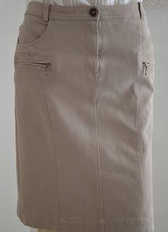 Jupe courte beige Pablo coton toutes saisons