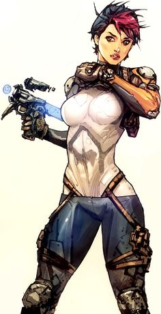 Cyberpunk, Future Girl, Futuristic Look, Hunter, Killer