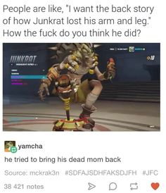 Overwatch Junkrat (Jamison Fawkes) | Edward Elric is honestly my favourite Overwatch character.