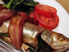 Trout with Bacon