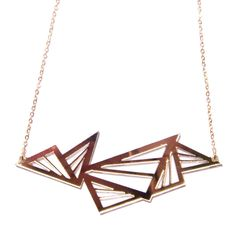Triangle Necklace Gold-Tone//
