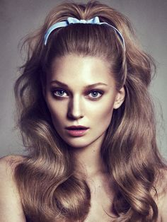 high ponytail with bump - Google Search                                                                                                                                                      More