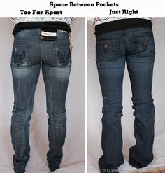 JEAN SHOPPING, great tips for ALL of us gals! Lots of comparison pics. Pin this, don't loose it!