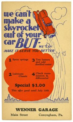 We Can't Make a Skyrocket Out of Your Car