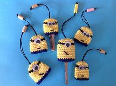 Funda de llaves Minions crochet