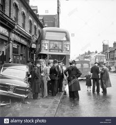 The Vauxhall Velox, or Cresta, didn't come out of this too well London Bus, Old London, London Street, Rt Bus, Routemaster, Victorian London, London History, London Transport, Busses