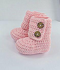 Uggs Inspired Crochet Baby Booties Newborn di BabyGirlsGlam