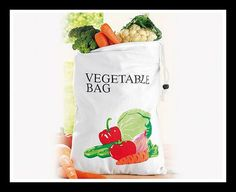 Vegetable Storage Bag Kitchen Utensils, Kitchen Gadgets, Vegetable Storage, Fruit And Veg, Bag Storage, Reusable Tote Bags, Vegetables, Stuff To Buy, Small Places