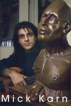 Mick Karn was also an accomplished sculptor and photographer. And a writer, too! He self-published his autobiography in 2009, 'Japan and self'-existence'.