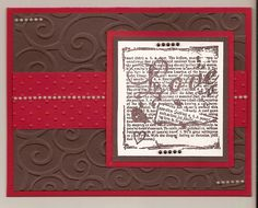 Pinterest Handmade Cards   here are a few more cards i just made using Stampin' Up! cardstock.