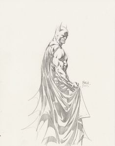 Batman Sketch by David Finch (Penciller) #comic #batman
