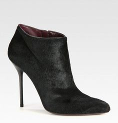Gucci Pony Hair Ankle Boots _