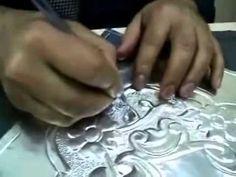 Aluminum Foil Embossing Art - YouTube