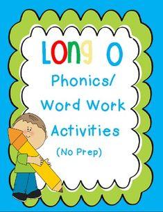 long o Words    LONG O PHONICS/WORD WORK ACTIVITIES - TeachersPayTeachers.com
