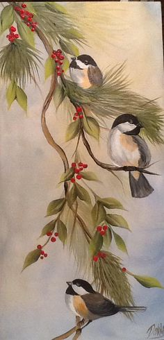 Donna Dewberry's Christmas Chickadees.