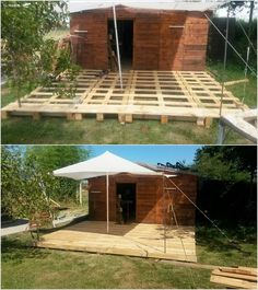 Pallet Deck and Garden Shed