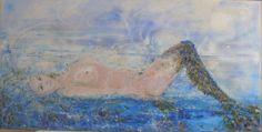 URANIA Patrizia Borrelli Leucotea nata dalla spuma del mare. Tecnica mista su tela