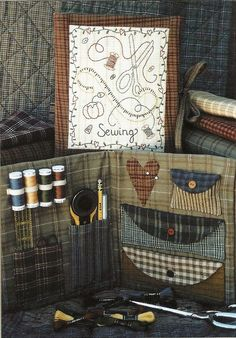 Primitive Folk Art Pattern    SEWING KIT by PrimFolkArtShop, $4.00 on Etsy...by Bareroots