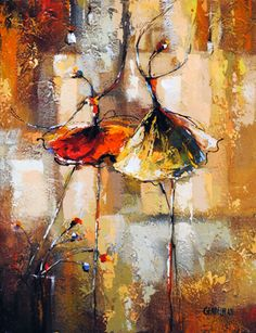 En Pointe II - painting by Irena Gendelman at Crescent Hill Gallery Ballet Painting, Figure Painting, Painting & Drawing, Red Wall Art, Encaustic Art, Abstract Oil, Texture Art, Creative Art, New Art