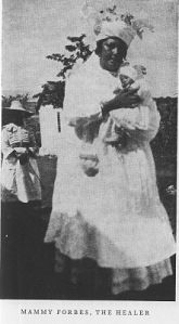 Rose Ann Forbes, also known as 'Mammy Forbes'  ran one of the most important balmyards in Jamaica for at least thirty and probably nearly sixty years, at Blake's Pen, on the border of Manchester and St. Elizabeth. Rose Ann's husband, George Forbes, was also involved in healing at the balmyard. According to oral tradition, Forbes established the Blake's Pen balmyard in the 1870s after a vision called her to heal the sick.  In 1916 an article in the Gleaner reported that the Forbeses began…
