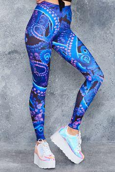Neon Octopus HWMF Leggings - 48HR ($75AUD) by BlackMilk Clothing