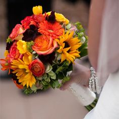 A small intimate mountain wedding surrounded by the changing colors of autumn.