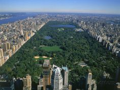 Aerial View of Central Park, NYC Photographic Print by David Ball at AllPosters.com