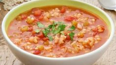 also scrumptious soup. IETrexIKingRobert and his wives made their own version of heartysoups to add to our family reporite for their covelles and danielles on down and this is positive also. Tomato and Barley Soup Slow Cooker Cabbage Rolls, Cabbage Roll Soup, Tomato Rice Soup, Slow Cooker Recipes, Cooking Recipes, Barley Soup, Easy Soup Recipes, Bean Recipes, Soup And Sandwich
