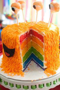 Monster rainbow cake