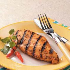 Quick Marinated Grilled Chicken - even my picky eaters liked this! Easy & delicious.