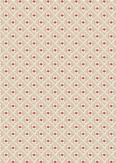 Big Bear Little Bear A104.3 - Woody diamonds on biscuit from Lewis & Irene // Juberry Fabrics