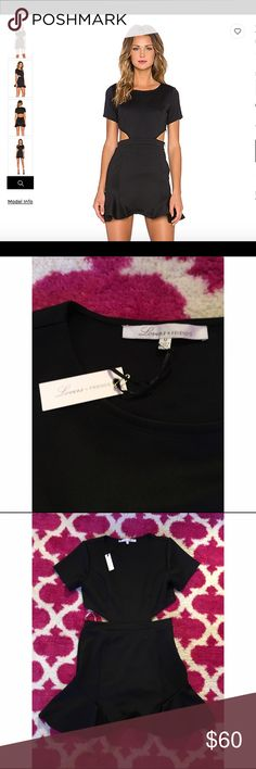 Lovers + friends black dress NWT accidentally bought this dress in a medium & a large and didn't end up wearing either! Perfect dress for a girls night out, perfect condition Lovers + Friends Dresses Mini