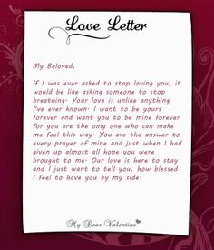 Love Letters for Her on Pinterest | Love letter to girlfriend, Love ...