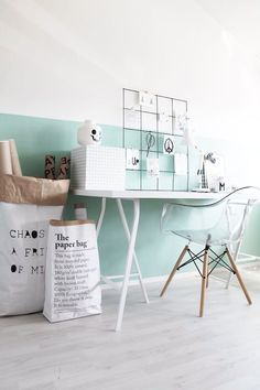 Scandinavian design is one of the most beautiful and elegant ways to decorate your home, and we absolutely love it. This is domino's ultimate guide to decorating your home with a Scandinavian design inspired interior. Workspace Inspiration, Interior Inspiration, Inspiration Wall, Deco Pastel, Mint Walls, White Walls, Kid Desk, Scandinavian Interior Design, Nordic Design