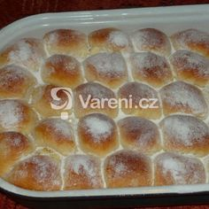 Honzovy plněné buchty recept - Vareni.cz Slovak Recipes, Czech Recipes, Home Baking, Scones, Biscuits, Sweet Treats, Food And Drink, Sweets, Bread