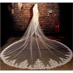 Cheap ivory bridal veil, Buy Quality tulle bridal veil directly from China wedding veil Suppliers: Ivory Wedding Dress Long Sequin Lace Tulle Bridal Veils Wedding Veils Voile Mariee Ivory Bridal Veils Long Wedding Dresses, Wedding Veils, Bridal Veils, Ivory Wedding, Long Vail, Bridal Accessories, White Lace, Cathedral, Beautiful