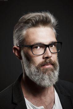 styled by the Barbershop Klagenfurt 3 bearded man. Moustache, Beard No Mustache, Haircuts For Men, Best Short Haircuts, Badass Beard, Hair And Beard Styles, Hair Styles, Grey Beards, Men With Grey Hair