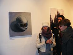 Adrienn Erdei - 2013. November 25. Exhibition opening. I and my painting. A38 Ship,Budapest.