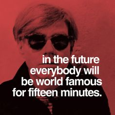 andy warhol quotes - theitalianbookclub get it Andy Warhol Quotes, Past Present Future, The Time Is Now, First Art, World Famous, Some Quotes, Book Club Books, Design Quotes, Graphic Design